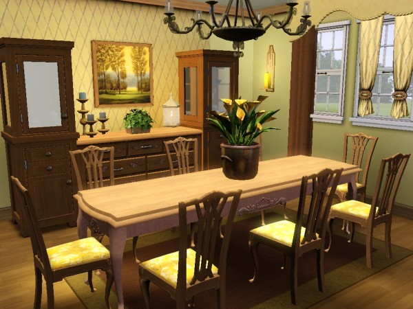 Tarenava s knight legacy flip bree 39 s sims 3 page for Sims 3 dining room ideas