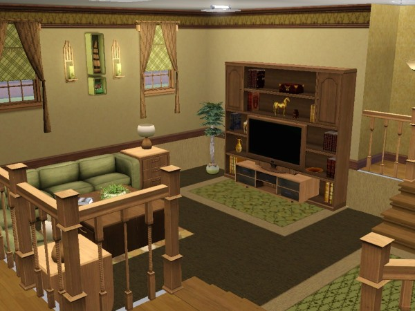 Retro bedrooms retro and living rooms on pinterest for Sims 3 dining room ideas